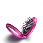 Складная щетка для волос с зеркальцем